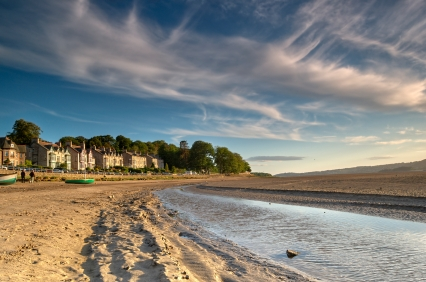An evening view of Arnside in the English Lake District