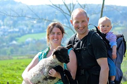 Arnside_Tower_family_lamb
