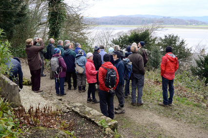 a group of people enjoying a guided walk