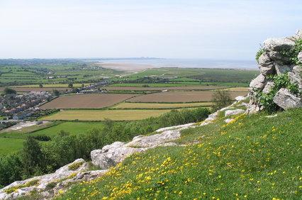 landscape from warton crag