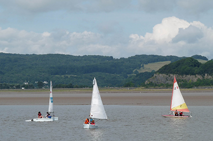 sailing boats on the River Kent