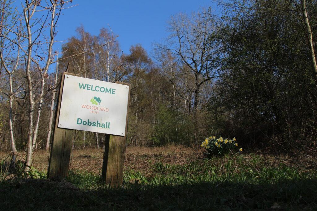 Entrance Sign Dobshall Wood Higher Gate