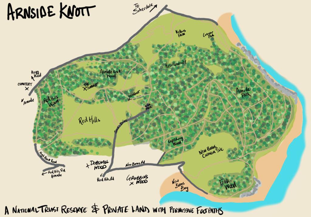 Arnside Knott Map