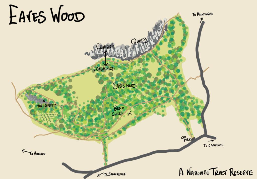 Eaves Wood Map